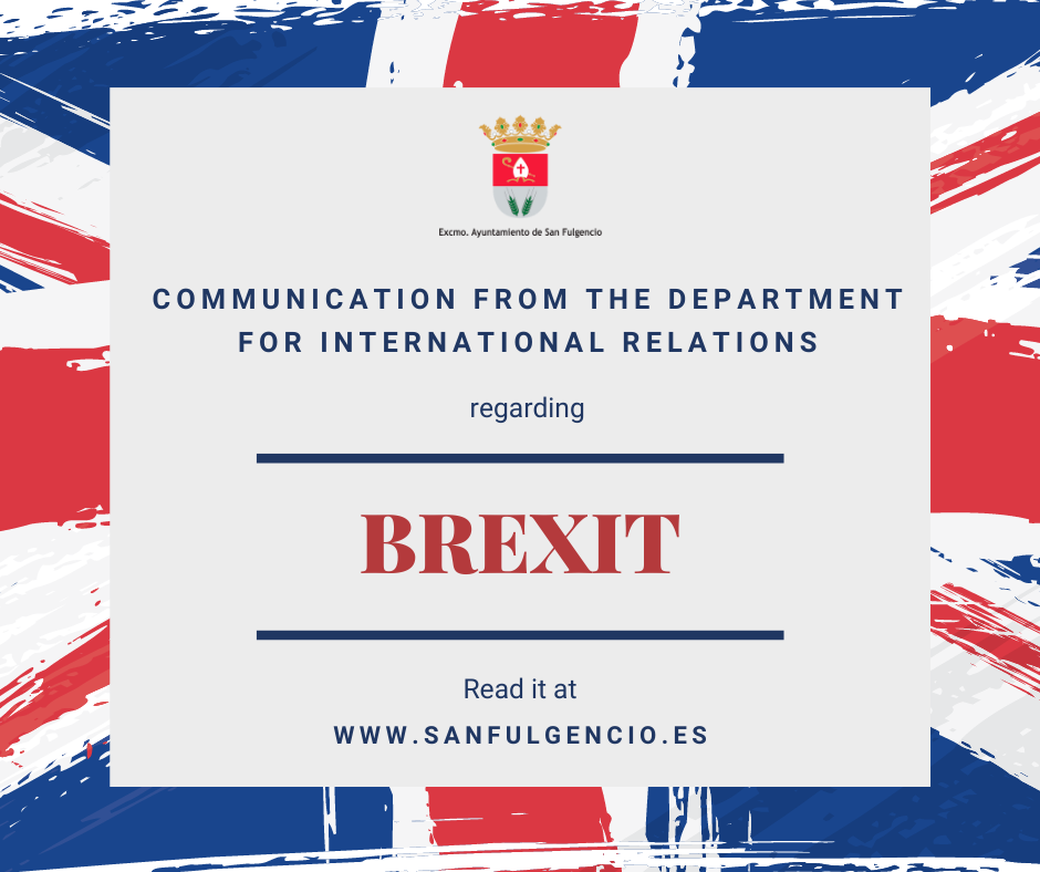 Communication from the Department for International Relations regarding Brexit