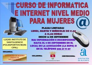 Curso de Informática e Internet para mujeres nivel medio.