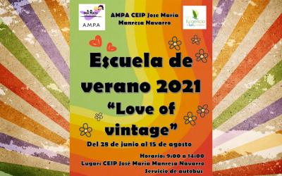 Inscripción Escuela de verano 2021 AMPA CEIP José María Manresa Navarro