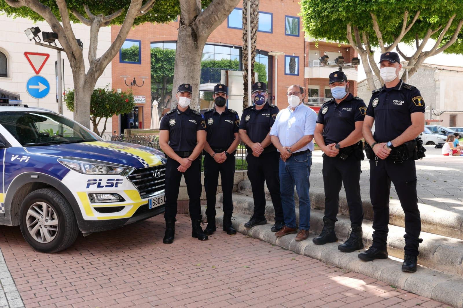 El Ayuntamiento de San Fulgencio incorpora cuatro nuevos agentes a su plantilla de la Policía Local