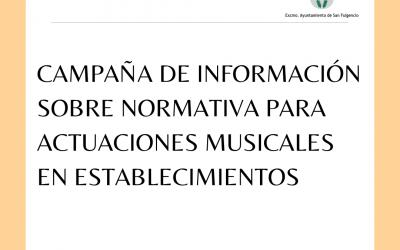 Campaña de información sobre normativa para actuaciones musicales en establecimientos