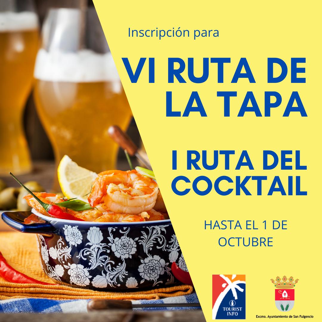 """BASES DE LA """"VI RUTA DE LA TAPA Y I RUTA DEL COCKTAIL DE SAN FULGENCIO"""""""