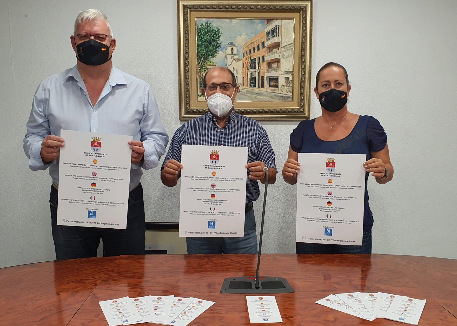 San Fulgencio inicia una campaña de información sobre el padrón municipal y la solicitud de residencia